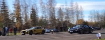 vs porsche 911 turbo renntech mercedes amg gt s vs porsche 911 turbo s cabriolet drag