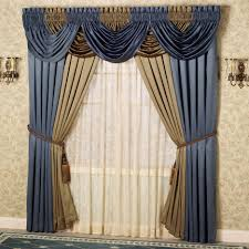 dining room valance magnificent brown modern simple curtains ideas for large windows