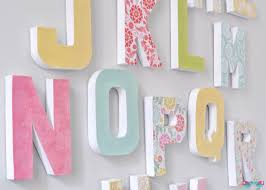 Inexpensive Wall Decor by How To Make Your Own Letter Wall The Love Nerds