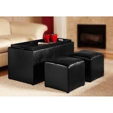 leather storage ottoman bench treenovation