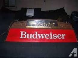 vintage budweiser pool table light vintage budweiser pool billiard light auburn for sale in