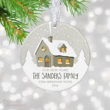personalized new house ornament personalized gift market