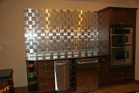 Peel And Stick Backsplash For Kitchen Self Stick Metal Backsplash Tiles Home Design Inspirations