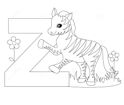 image gallery letter z coloring pages