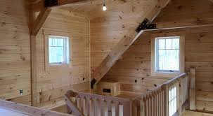 Timber Dormer Construction Interior Wall Coverings Log Home Under Construction