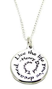 inspirational pendants inspirational jewelry necklace sterling silver henry
