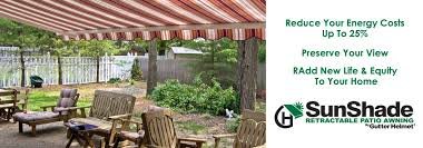 Cost Of Retractable Awning Sunshade By Gutter Helmet Gutter Helmet America U0027s Choice For