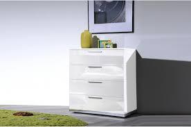 commode chambre blanc laqué commode de chambre design blanc laqué 4 tiroirs novomeuble
