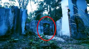 ghost caught on camera from an old abandoned haunted house scary
