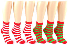 fuzzy christmas socks striped fuzzy socks ankle socks for women