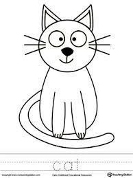 cat coloring word tracing tracing worksheets