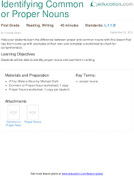common and proper noun scavenger hunt lesson plan education com