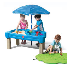 step 2 folding picnic table cascading cove sand water table kids sand water play step2