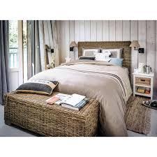chambre rotin tête de lit en rotin kubu et mahogany massif l 140 cm maisons du monde