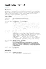 Currently Working Resume Sample by Business Development Coordinator Resume Samples Visualcv Resume