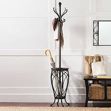 ampersand charleston standing coat rack in black bed bath u0026 beyond