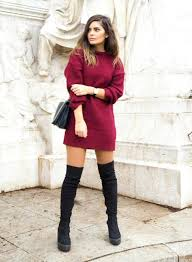 dresses with boots how to wear the knee boots in fall sweater dress boots