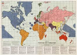 The World Map Labeled by Large Scale Old Outline Of Post War New World Map 1942 Old