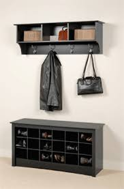prepac entryway shoe storage cubbie bench black bss 4824