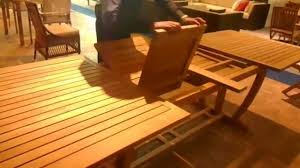 Teak Wood Dining Set Scade Concepts Teak Wood Extension Dining Table Youtube