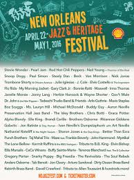 lineup announced 47th annual new orleans jazz fest sf station