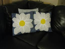 Upcycled Pillows - where u0027s my dream life upcycled daisy pillows