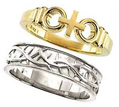 christian wedding bands gold and silver christian wedding rings