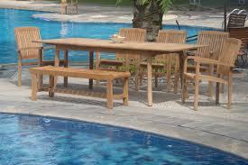 Wholesale Teak Patio Furniture Wholesaleteak 7 Piece Grade A Teak Outdoor Dining Set With Bench