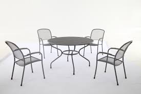 Garden Table Sets Round Metal Patio Table And Chairs Round Designs