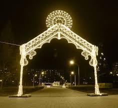 christmas street lights warm white led light arch yandecor