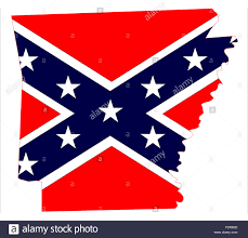 Confederate Flag Buy State Map Outline Of Arkansas With Confederate Flag Over A White