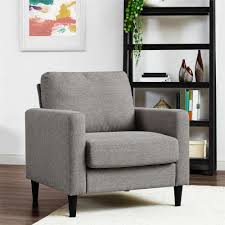 accent chair chairs living room furniture the home depot jenny contemporary gray accent chair