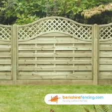 Arch Trellis Fence Panels Omega Lattice Top Fence Panels 3ft X 6ft Natural Berkshire Fencing
