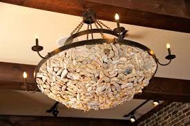 Oyster Chandelier Fascinating Oyster Shell Chandelier 54 Natural Oyster Shell