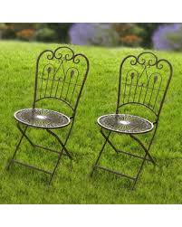 Metal Folding Bistro Chairs Spectacular Deal On Outdoor Hgc Provence Metal Folding Wrought