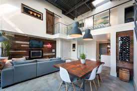 vintage modern double height loft in vancouver caandesign