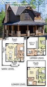 cabin homes plans plan 18733ck wrap around porch house cabin and future