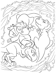 little dinosaurs from ice age coloring pages for kids printable
