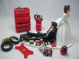 wedding cake topper for mechanics auto mechanic snap on