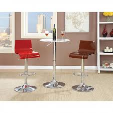 Acrylic Bar Table Trixy 3pcs Contemporary Chrome Finish Acrylic Bar Table Set Shop