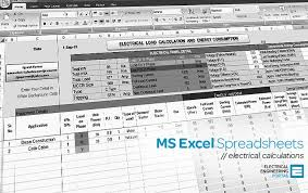 Hvac Load Calculation Spreadsheet by Electrical Ms Excel Spreadsheets