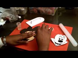 Red Minnie Mouse Cake Decorations How To Make Minnie Mouse Cake Topper Part 1 Youtube