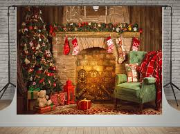 cozy holiday fireplace printed vinyl backdrop savage universal for