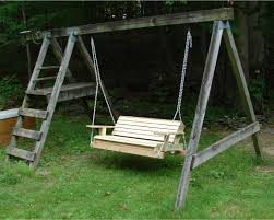 Two Person Swing Chair Make An Old Swingset Into A Two Person Hanging Swing 3 Steps
