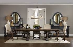 Hooker Furniture Dining Room Treviso Trestle Dining Table With Two - Trestle kitchen table
