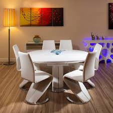 round high gloss table and chairs home chair decoration