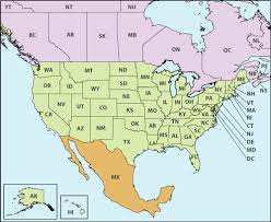 map us and canada map usa canada border states major tourist attractions maps