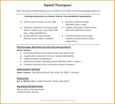 Best Resume Format For Airport Ground Staff by Beauteous Dance Teacher Resume Format Dancer Audition Template