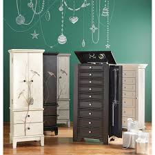 Black Armoire Home Decorators Collection Chirp Black Jewelry Armoire 1972400210