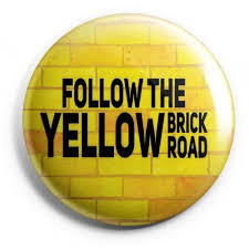 follow the yellow brick road badge badges onboard we